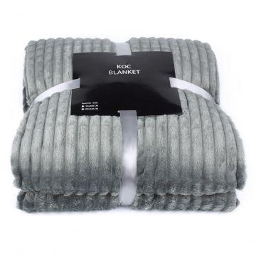 Koc, pled z serii Blanket -  szary, 200x220 cm