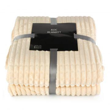 Koc, pled z serii Blanket -  ekri, 200x220 cm