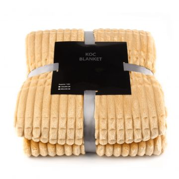 Koc, pled z serii Blanket -  beżowy, 200x220 cm