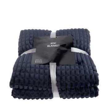 Koc, pled z serii Blanket -  granatowy, 200x220 cm