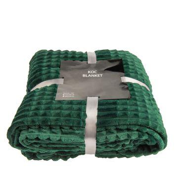 Koc, pled z serii Blanket - ciemnozieloony, 200x220 cm