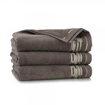 Ręcznik Grafik Taupe 70 x 140 cm