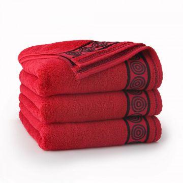 Ręcznik Rondo Czerwony 70 x 140 cm