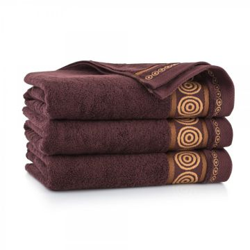 Ręcznik Rondo Brązowy 70 x 140 cm