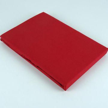 Prześcieradło bawełniane 205 x 220 - czerwone