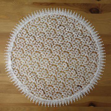 Serwetka gipiurowa śr. 60 cm - biała